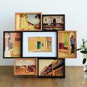 ハロウ 7 ソーシャル フォトフレーム 壁掛け プレゼント おしゃれ 写真立て 複数 木製 A5 ポストカード L版