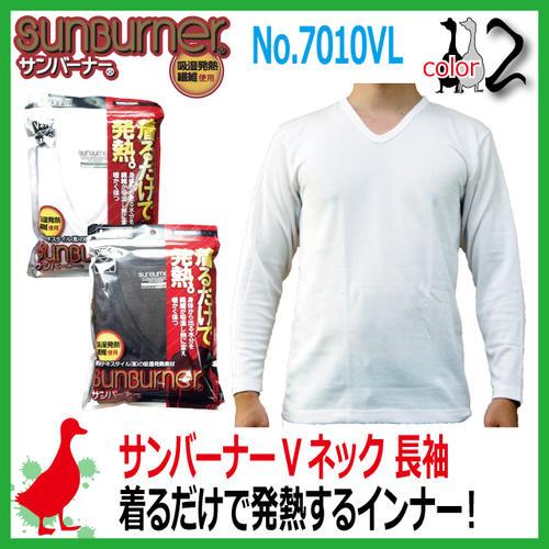 防寒発熱インナー サンバーナー Vネックシャツ ...の商品画像