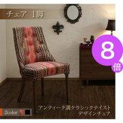 ■8倍ポイント■アンティーク調クラシックテイスト デザインチェア bizarre ビザール[4D][00]