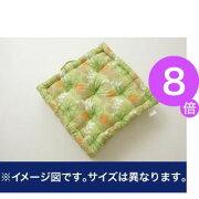 ■8倍ポイント■クッション リーフ柄 綿100% BOXクッション 『リーフィ』 グリーン 約40×40cm【代引不可】 [13]