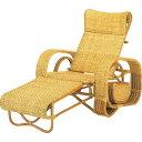 籐三つ折リクライニング寝椅子 a107