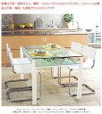 リビングテーブル、リビング テーブル、テーブル リビング、ハイテーブル、ガラステーブル、ガラス テーブル、テーブル ガラス(白・白色・ホワイト):LVTAR-DaT-1r1(天板、棚板:透明ガラス)