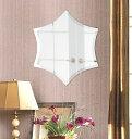 スーパークリアー ミラー 480x550mm ファンシー ヘキサゴン デラックスカット 鏡 壁掛け ミラー 壁掛け 日本製 5mm厚 玄関 リビング 寝室 トイレ 取付金具と説明書 高透過 高精彩 壁掛け壁 壁に直付け ウオールミラー 姿見 全身 おしゃれ 軽量 六角 六角形 ヘキサゴン