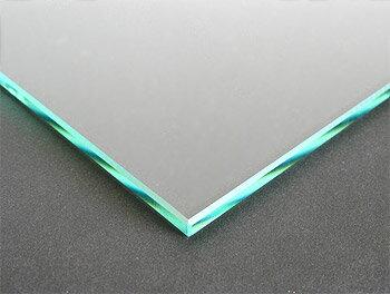 ガラス 板ガラス(長方形 正方形)国産の硝子 板硝子(板厚5ミリ) 糸面取り加工(面取り幅1〜2ミリ)