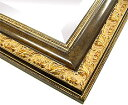 超特大の鏡・ミラー:チェリーブラウンのクレオパトラ スクエアフレームミラー(金箔・アンティーク仕立て)