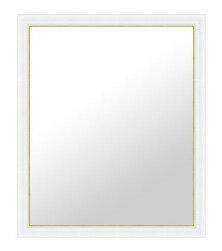鏡 ミラー 壁掛け鏡 壁掛けミラー ウオールミラー の サイズオーダー サイズ 特注;A-RD281WH白/金(フレームミラー 壁掛け 壁付け 姿見 姿見鏡 壁 おしゃれ エレガント 化粧鏡 アンティーク 玄関 玄関鏡 洗面所 トイレ 寝室 )
