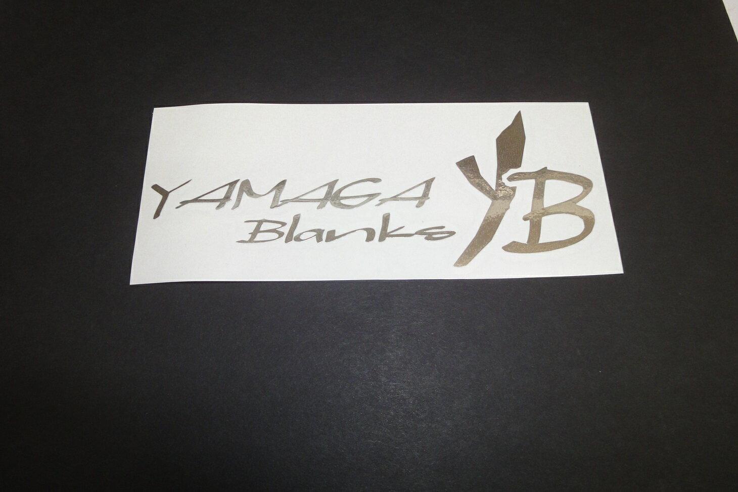 当店でヤマガのロッドを購入のお客様に ヤマガブランクス ステッカー(小)1枚 プレゼント ミラーシルバー