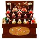 雛人形 K412木目込み人形飾り 真多呂作【ひな人形】【佳月】【かげつ】【送料無料】【三段飾り】【高級品】