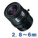 [防犯カメラ用レンズ]1本でもっとも使用頻度の高い画角をカバーする変倍レンズ[防犯カメラ周辺機器]防犯カメラ用バリフォーカルレンズ2.8〜6mm【13VM286T】1222PUP10F
