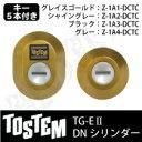 【93-A】TG-E2(QDK668-QDK751-QDK668)トステム 玄関 鍵(カギ) 交換 取替え用DNシリンダー 二個同一キーシリンダードア厚40mm...