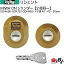 【71-A】リシェント(QDK668-QDK752-QDK668)トステム 玄関 鍵(カギ) 交換 取替え用DNシリンダー 二個同一キーシリンダードア厚み40mm..
