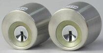【1】TOSTEMQDC-900QDC899交換用シリンダー(GOAL社製・V18シリンダー2個同一キー「シルバー色」)