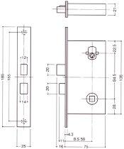 WEST171レバーハンドル玄関錠リプレイスシリンダー