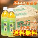 【送料無料】 エコフーズ 緑茶 500ml ペットボトル 24本×2ケース 計48本 国産茶葉100%使用 緑茶 お茶 ギフト