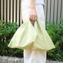 久留米絣の東袋(薄緑地に麻の葉柄)※横長中サイズ ボックス型中サイズ 半月型中サイズ 定番型小サイズ まんまるやさしい籠 ミニボストン籠 底がスマイル籠に合います。サイズ 幅約47cm 縦約48cm エコバッグ インナーバッグ あづま袋 あずま袋