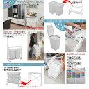 ダストボックス ゴミ箱 ランドリー ホワイト 脱衣 キッチン 作業台 カウンター 分別 キャスター 45リットル