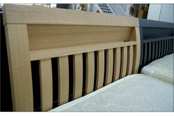 ワイドダブルベッドすのこベッド2個口コンセント付/ナチュラル木製ベッドフレームシンプルデザイン
