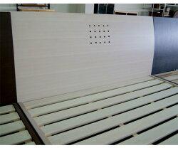 ワイドダブルベッドすのこベッドベッドフレームホワイト/フレームワイドダブルシンプルデザイン