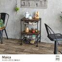 RoomClip商品情報 - Maica マイカ ワゴン キャスター付 ヴィンテージ風 ブルックリンスタイル ブラック オイル塗装