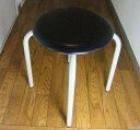 【送料無料】(日本製完成品8脚セット)黒丸イス 丸椅子 パイプイス パイプ椅子 スツール