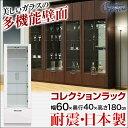 【送料無料/設置無料】 日本製 洗練されたモダンなガラス壁面収納 オペラ 幅60cm コレクションラック 完成品 ガラスケース コレクションケース 飾り棚