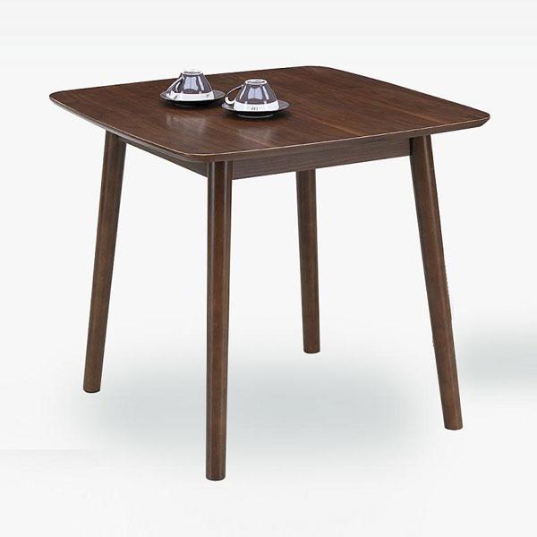 テーブル ダイニングテーブル75cm 送料無料 ウォールナット突板の75cm幅ダイニングテーブル