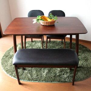 ダイニングテーブルセット4点セットダイニングテーブル4点食卓セットセット4点セットモダンカントリーアンティーク風天然木無垢木製チェアベンチ4人4人4人掛けおしゃれ送料無料