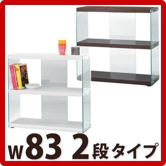 kagudoki  Rakuten Global Market: 폭 83cm 유리 선반 2 단 오픈 선반 유리 ...
