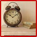 メタルクロック 時計|置時計|置き時計|置物|アンティーク アンティーク風 雑貨 アンティーク家具 レトロ ヴィンテージ クラシック ダメージ加工 /木製/薄型/通販/北欧/送料無料 ikeaイケア派に 楽天 家具 【送料込み】