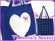 VICTORIA'S SECRET【エコバッグ/トートバッグ/PINK/ハート/チェック/ブルー】ヴィクトリアシークレット