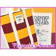 VICTORIA'S SECRET【PINK ラガー ボーダー トートバッグ イエロー/レッド 】ヴィクトリアシークレット◆エコバッグにも最適です♪