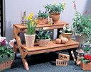 木製フラワースタンド GD-600ベランダガーデニング インテリア 鉢植え スタンド ベランダガーデニング 【アイリスオーヤマ】