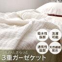 【送料無料】3枚重ねガーゼケット GK-3S シングル ブ