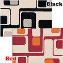 デザインラグ ナチュレ 130×190 RM-701 レッド・ブラックカーペット 絨毯 マット ...