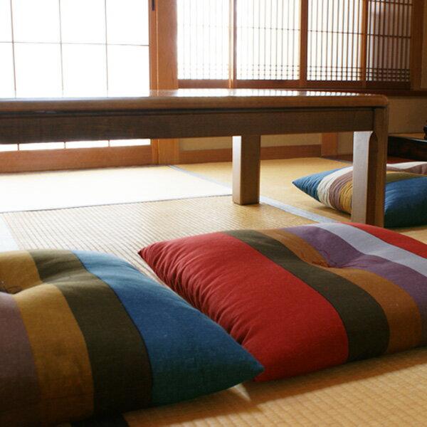 【日本製】縞柄(しまがら)座布団