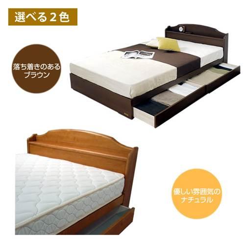 収納付きベッドシングルベッド ...