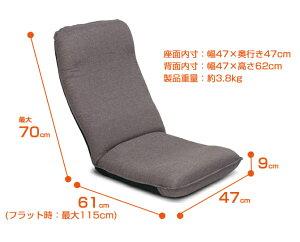 座椅子布地【日本製】座椅子職人手作り!腰にやさしいヘッドリクライニング座椅子ネット限定コンパクト座いす座イスクッション座いす・座椅子・1人掛けソファー・座イス・チェアヤマザキあぐらおすすめ座椅子腰痛腰にやさしい座椅子【2011single】[p0606]