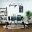 【クーポン配布中】ダイニングテーブルセット 4点セット 幅150 4人掛け ダイニングテーブル4点セット 食卓セット なぐり加工 アイアン ブルックリン 木製 シンプル ダイニングテーブル ダイニングチェア 椅子