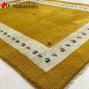 【ギャッベラグ MOON】GABBEH・ギャッペ(ギャべ)・イラン製・カーペット・ラグ・絨毯(じゅうたん)・約149×191cm・イエロー系