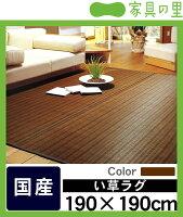 い草ラグ「ハーバス」(190×190cm)