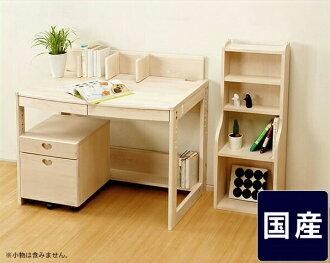 白色和可愛! 生態漆桌 3 件套 (馬車 + 書架 + 書桌) 學習桌 / 學習桌