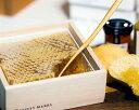 HONEY MARKS(ハニーマークス)コムハニー ギフトボックススパチュラ付き (340g)はちみつ ハチミツ 蜂蜜 巣蜜 ハチの巣 蜂の巣 巣はちみつ ホットケーキ デザート スイーツ ビタミン ミネラル お料理