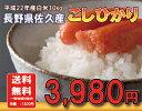 長野県佐久産コシヒカリ白米10kg【送料無料】【こしひかり】
