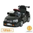 ミズタニ(A-KIDS) 乗用玩具 スカイライン GT-R R34型 (ペダルカー)対象年齢2-4歳 R-34N ブラック 乗用玩具 車 自動車 こども 子供 くる..