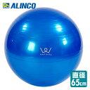 【5%OFF】 アルインコ(ALINCO) エクササイズボール(65cm) エアポンプ付 EXG025A バランスボール ヨガボール バランス運動 ストレッチ運動 【送料無料】