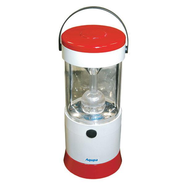 日本協能電子 Aqupa アクパ LEDランプ 210 R LP-210R ホワイト/レッド LED照明 LED懐中電灯 防災グッズ 電池不要 【送料無料】
