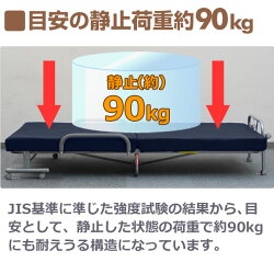山善(YAMAZEN)低反発折りたたみベッド(セミダブル)KBT-SD(ネイビーブルー/チョコレートブラウン/セサミブラック)
