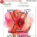 【代引き不可】【特大サイズ】アートパネル「LV PETALS」サイズ109.2×109.2cm ファッションの絵画 ブランドモチーフポップアート アートフレーム The Oliver Gal Artist Co 渡辺美奈代セレクト