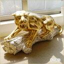 豹の置物 レオパード ヒョウのオブジェ ひょう アニマル インテリアオブジェ 姫系インテリア プリンセスアイテム渡辺美奈代愛用