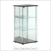 「ガラスコレクションケース 3段」背面ミラー付き 棚 ディスプレイ 収納 グッズ インテリア フィギア 雑貨 小物